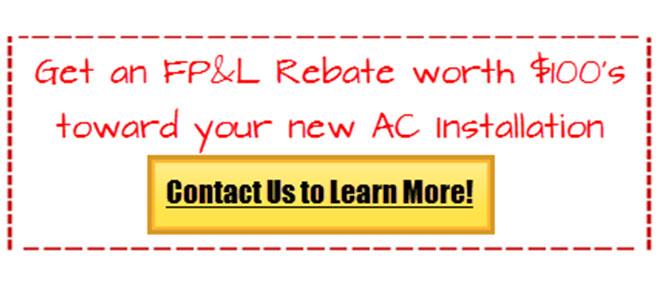 fpl rebate air conditioning tamarac